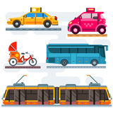 Insieme di trasporto della città Immagine Stock Libera da Diritti