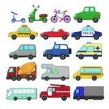 Insieme di trasporto urbano Fotografia Stock Libera da Diritti