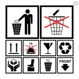 Insieme di trattamento & d'imballaggio dell'icona Immagine Stock
