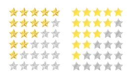 Insieme di valutazione della stella Fotografia Stock