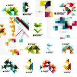 Insieme di varie disposizioni geometriche universali - Fotografie Stock Libere da Diritti
