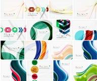 Insieme di varie disposizioni geometriche universali Fotografia Stock