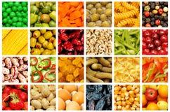 Insieme di varie frutta e verdure Immagini Stock