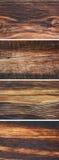 Insieme di vecchi ambiti di provenienza di legno Immagini Stock