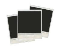 Insieme di vecchio spazio in bianco del film della polaroid Fotografia Stock Libera da Diritti