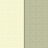 Insieme di verde verde oliva dei modelli geometrici senza cuciture Fotografia Stock
