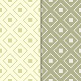 Insieme di verde verde oliva dei modelli geometrici senza cuciture Immagine Stock Libera da Diritti