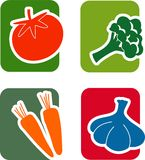 Insieme di verdure dell'icona Immagine Stock