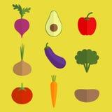 Insieme di verdure di vettore Immagini Stock