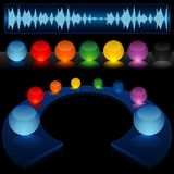 Insieme di vetro del giocatore del DJ Immagine Stock Libera da Diritti