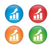 Insieme di vetro dell'icona del bottone di vettore del grafico di Infographic Fotografie Stock