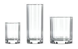Insieme di vetro della Tabella Fotografia Stock