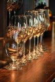Insieme di vetro di vino Immagini Stock Libere da Diritti