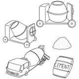 Insieme di vettore di cemento royalty illustrazione gratis