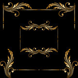 Insieme di vettore degli elementi decorativi d'annata Immagine Stock Libera da Diritti