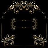 Insieme di vettore degli elementi decorativi d'annata Immagine Stock