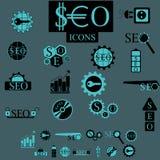 Insieme di vettore degli elementi di Seo Fotografie Stock