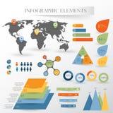 Insieme di vettore degli elementi di infographics Immagine Stock