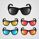 Insieme di vettore degli occhiali da sole realistici Fotografie Stock