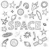 Insieme di vettore degli oggetti dello spazio royalty illustrazione gratis
