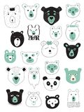 Insieme di vettore degli orsi illustrazione di stock