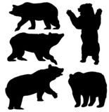 Insieme di vettore degli orsi Priorità bassa degli animali selvatici illustrazione di stock