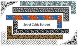 Insieme di vettore dei bordi di stile celtico Fotografie Stock Libere da Diritti