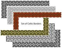 Insieme di vettore dei bordi di stile celtico Immagini Stock