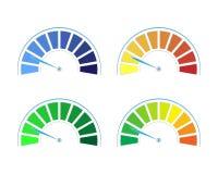 Insieme di vettore dei calibri colorati royalty illustrazione gratis