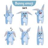 Insieme di vettore dei caratteri svegli del coniglio Insieme 5 Royalty Illustrazione gratis