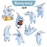 Insieme di vettore dei caratteri svegli del coniglio Insieme 8 Illustrazione di Stock
