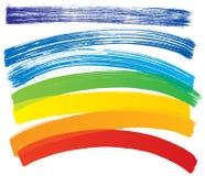 Insieme di vettore dei colpi multicolori Fotografia Stock Libera da Diritti