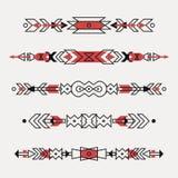 Insieme di vettore dei confini etnici decorativi Royalty Illustrazione gratis