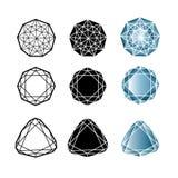 Insieme di vettore dei diamanti royalty illustrazione gratis