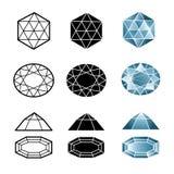 Insieme di vettore dei diamanti illustrazione vettoriale