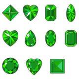 Insieme di vettore dei diamanti di varie forme Immagini Stock