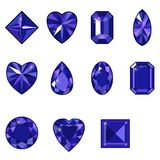 Insieme di vettore dei diamanti di varie forme Fotografie Stock Libere da Diritti
