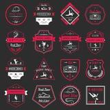 Insieme di vettore dei distintivi, del logos e del break-dance del segno Immagini Stock Libere da Diritti