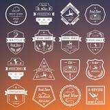 Insieme di vettore dei distintivi, del logos e del break-dance del segno Fotografia Stock Libera da Diritti