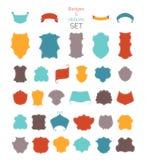 Insieme di vettore dei distintivi e dei nastri d'annata colourful Fotografia Stock