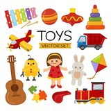 Insieme di vettore dei giocattoli del fumetto illustrazione di stock