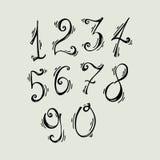 Insieme di vettore dei numeri dell'inchiostro ABC per la vostra progettazione Illustrazione di Stock