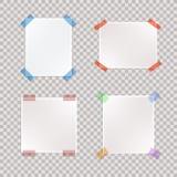Insieme di vettore dei pezzi di carta legati realistici illustrazione vettoriale