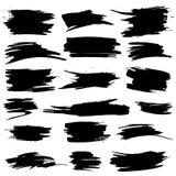 Insieme di vettore dei punti neri di lerciume Fotografia Stock