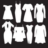 Insieme di vettore dei vestiti moderni per le donne Fotografie Stock Libere da Diritti