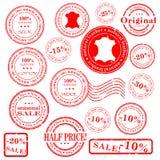 Insieme di vettore del bollo di vendita Fotografia Stock