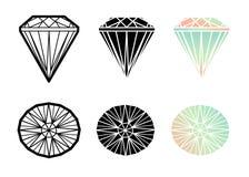 Insieme di vettore del diamante illustrazione di stock