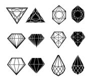 Insieme di vettore del diamante illustrazione vettoriale