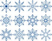 Insieme di vettore del fiocco di neve Immagine Stock Libera da Diritti