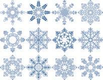 Insieme di vettore del fiocco di neve Fotografie Stock
